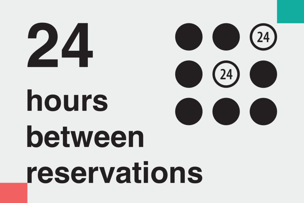 "illustration: ""24 hours between reservations"" – Information on methods of home cleaning and disinfecting during covid-19 for ads on booking platforms. Images telling guests how host follow Airbnb cleaning guidelines"