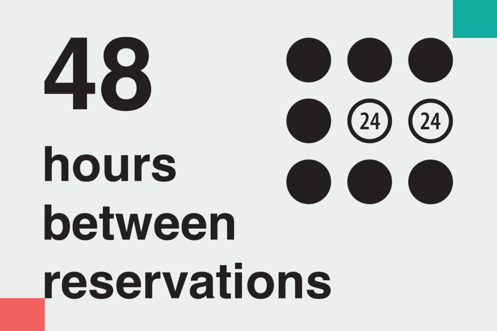"illustration: ""48 hours between reservations"" – Information on methods of home cleaning and disinfecting during covid-19 for ads on booking platforms. Images telling guests how host follow Airbnb cleaning guidelines"