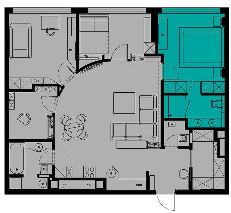 отдельная комната Аирбнб в аренду посуточно