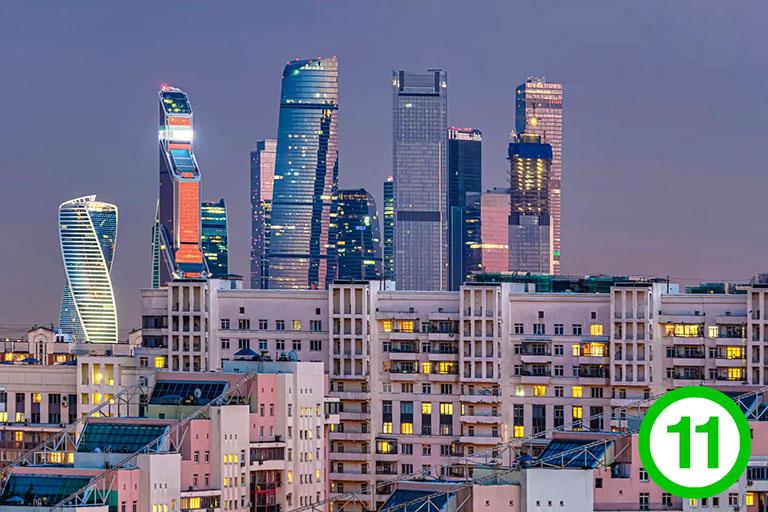 фото-изображение№11 – экстерьер – сильный зум из окна на небоскребы в дали на фоне города_
