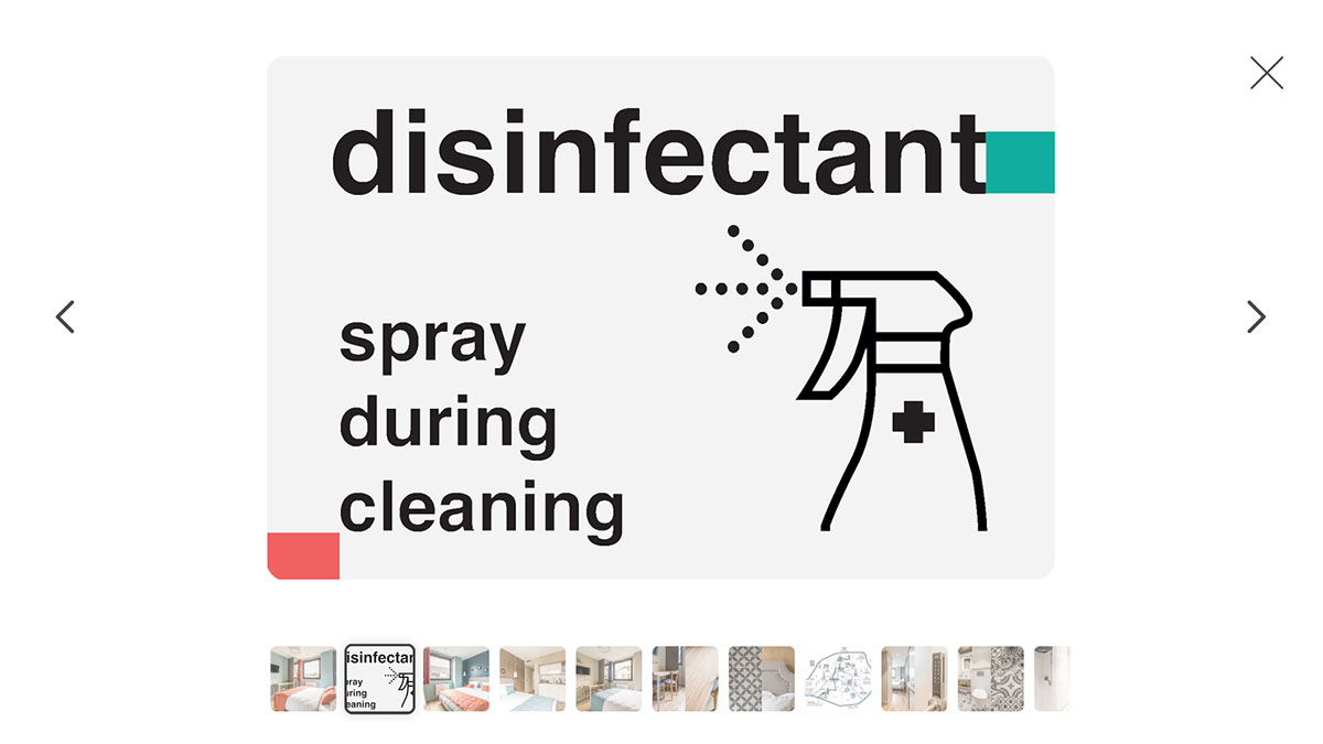 "page cover: ""Images about cleaning and disinfecting for Airbnb ads – show your guests virus prevention actions you take during pandemic"""