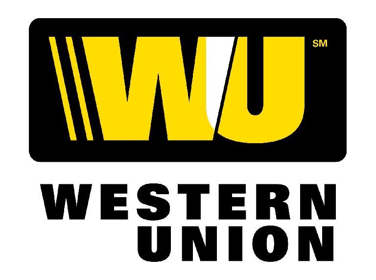 """графический текстовый логотип: """"Western Union""""_"""