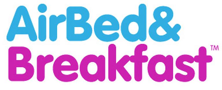 """шрифтовой логотип """"AirBed& Breakfast""""_"""
