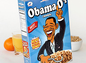 Фото пачки с сухим завтраком - колечки «Obama O's»_