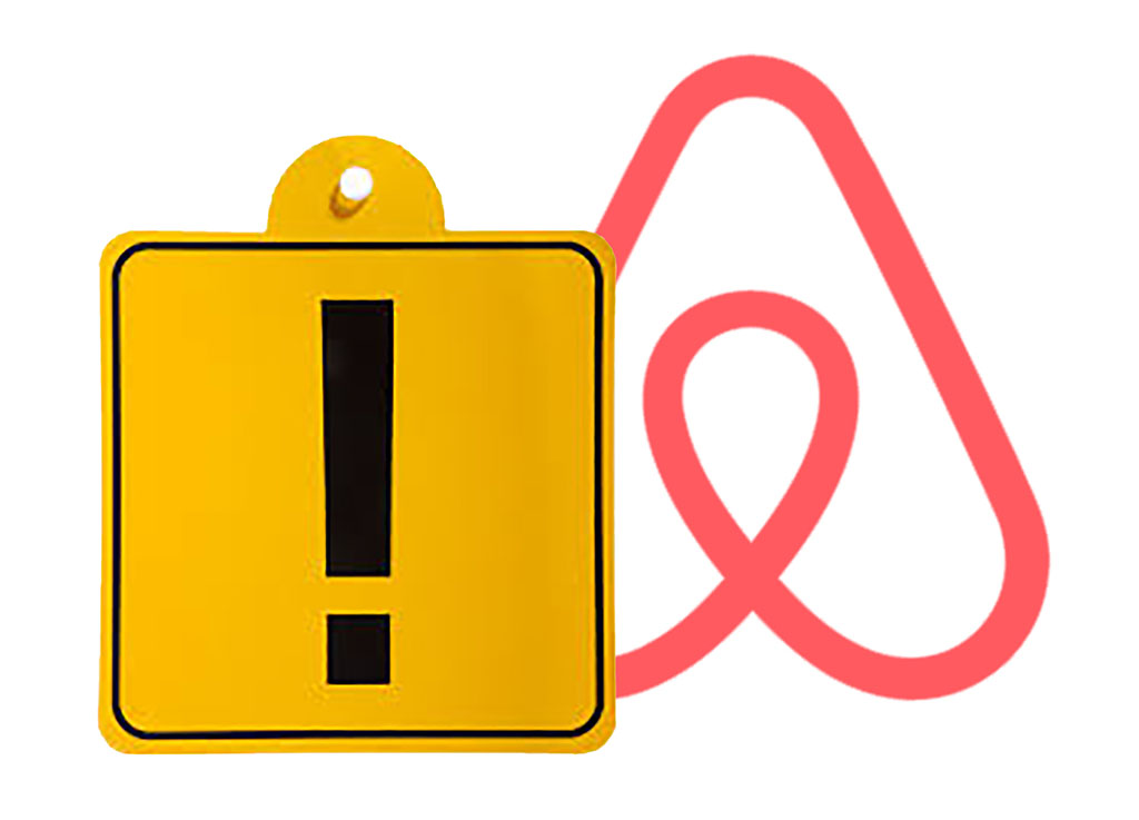 """коллаж: фотография знака """"начинающий водитель"""" и знаковый логотип Airbnb, расположенный за ним – символическая иллюстрация помощи начинающим хозяевам, желающим сдать свое жилье в аренду от Аирбнб_"""