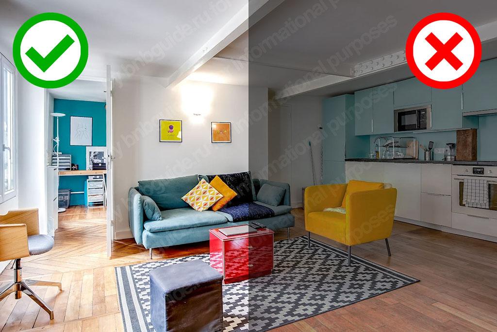 пример яркости (светлости) снимка – две части одного фотоснимка: слева светлая часть фотоизображения, справа темная с низкой яркостью_