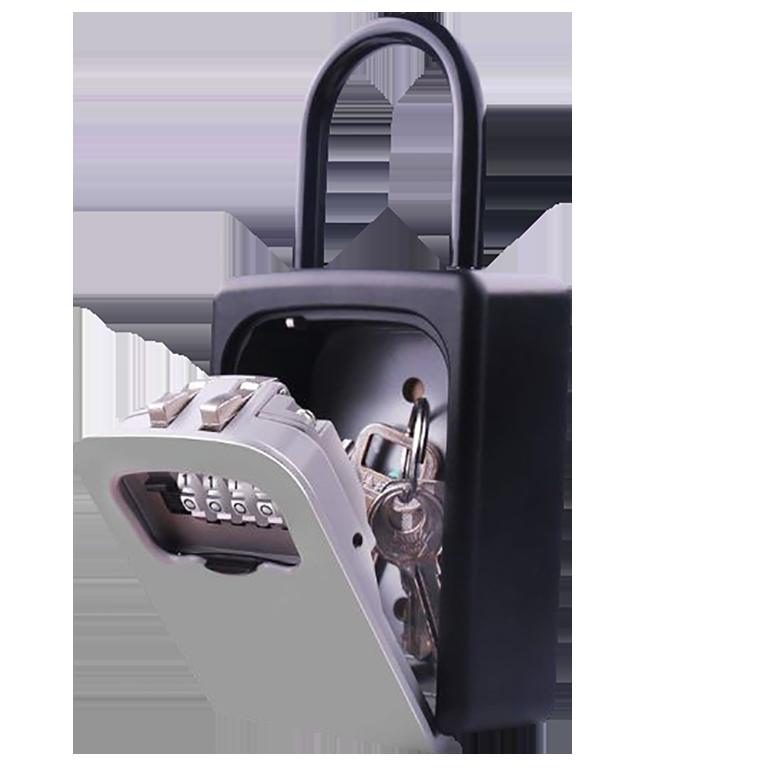 Фото: ячейка с кодовым замком для хранения ключей от квартиры Airbnb, которая позволяет организовать заезд гостей в жилье без присутствия хозяина_